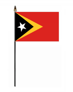 East Timor Country Hand Flag - Small.
